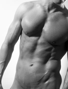 Male Fitness Model Abs Tony Jones NYC 2003 stand in body double new york city